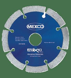 MEXCO 115 MM x 22.23 MM ABX10 ABRASIVE MATERIALS DIAMOND BLADE-0
