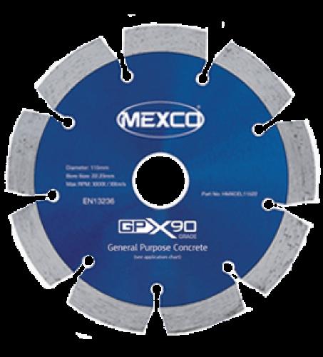 MEXCO 115 MM x 22.23 MM GPX GENERAL PURPOSE DIAMOND BLADE-0