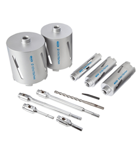 MEXCO 11 PIECE DCX90 SLOTTED DRY CORE DRILL KIT-10692