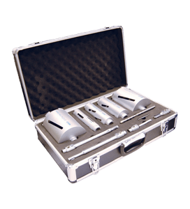MEXCO 11 PIECE DCX90 SLOTTED DRY CORE DRILL KIT-0