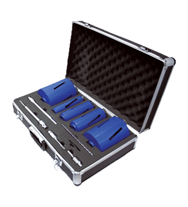 MEXCO 11 PIECE DCXCEL SLOTTED DRY CORE DRILL KIT-0