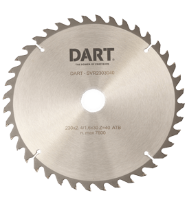 136 MM X 20B X 20T DART SILVER ATB WOOD SAW BLADE -0