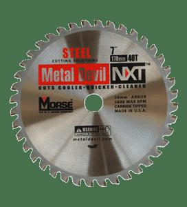 MORSE 178 MM TCT STEEL CUTTING SAW BLADE 40 T-0