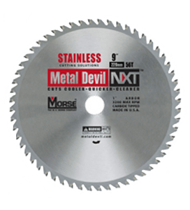 MORSE 229 MM TCT STAINLESS STEEL CUTTING SAW BLADE 56 T-0