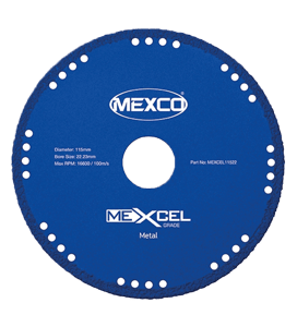 MEXCO 400 MM x 25.4 MM DIAMOND GRIT METAL CUTTING BLADE-0