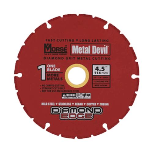 152 mm MORSE METAL DEVIL DIAMOND GRIT CUT OFF WHEEL-0