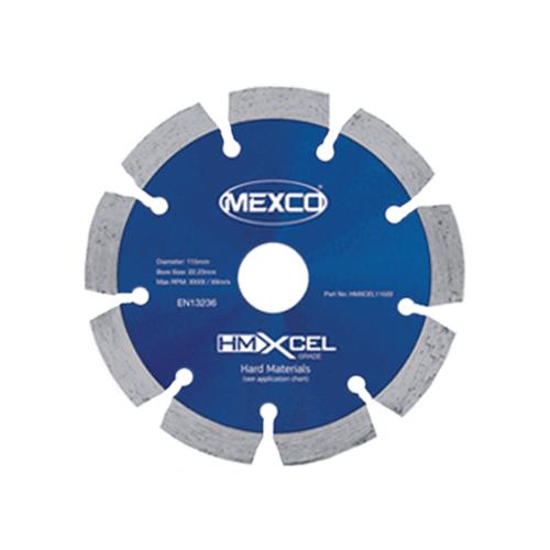 MEXCO 115 mm x 22.23 mm HMXCEL HARD MATERIALS DIAMOND BLADE-0