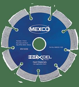 MEXCO 450 mm x 25.4 mm HMXCEL HARD MATERIALS DIAMOND BLADE-0