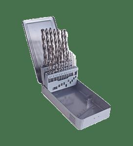 19 PIECE LONG HIGH SPEED STEEL (HSS ) GROUND TWIST DRILL BIT SET-0