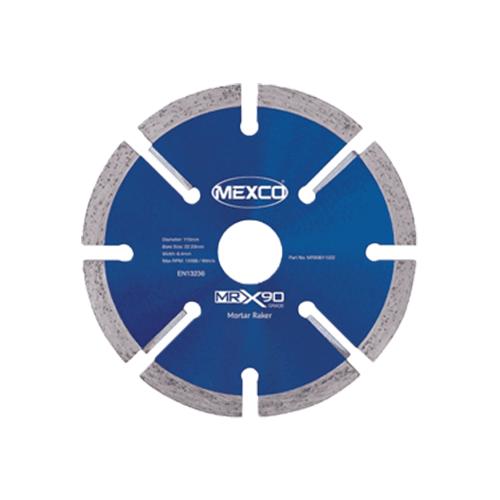 MEXCO 115 mm MRX90 DIAMOND MORTAR RAKER BLADE-0