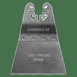 SBM00026 PACK 10 CHROME VANADIUM 68 mm FLUSH CUTTING MULTI TOOL BLADE FOR WOOD PLASTICS-0