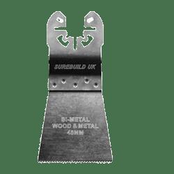 SBM00030 10 BI-METAL 45 mm FLUSH CUTTING MULTI TOOL BLADE FOR METAL WOOD & PLASTICS-0