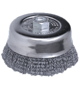 SIT T100 100 mm x M14 x 0.35 mm CRIMPED STEEL ABRASIVE WIRE CUP BRUSH-0