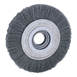 SIT 200 mm x 23 mm x 38 mm WITH KITMM 0.35 ABRASIVE CRIMPED STEEL WIRE WHEEL-0