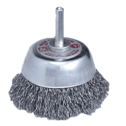T60 SIT 65 mm x 6 mm SHAFT 0.30 CRIMPED STEEL ABRASIVE WIRE CUP BRUSH-0